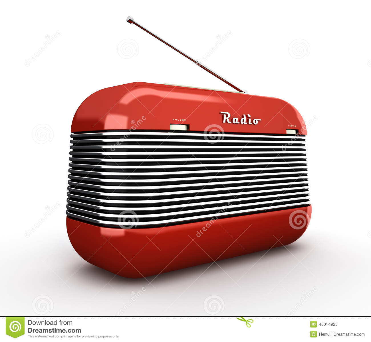 old red vintage retro style radio receiver on white bac stock image image of radio blue 46014925. Black Bedroom Furniture Sets. Home Design Ideas