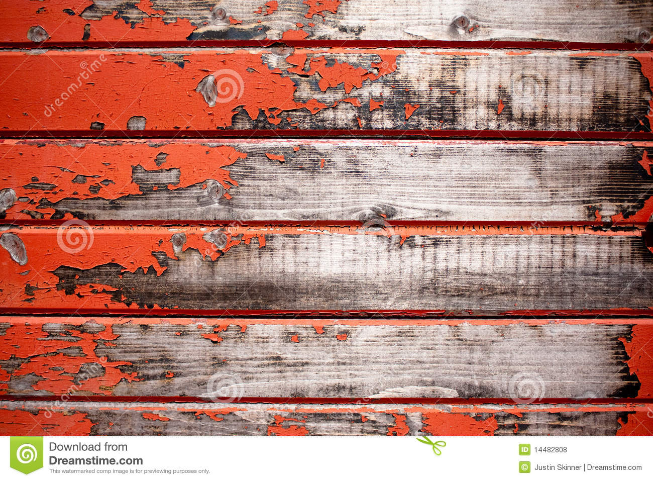Old Red Wood Texture Stock Photo Image Of Paint Crack