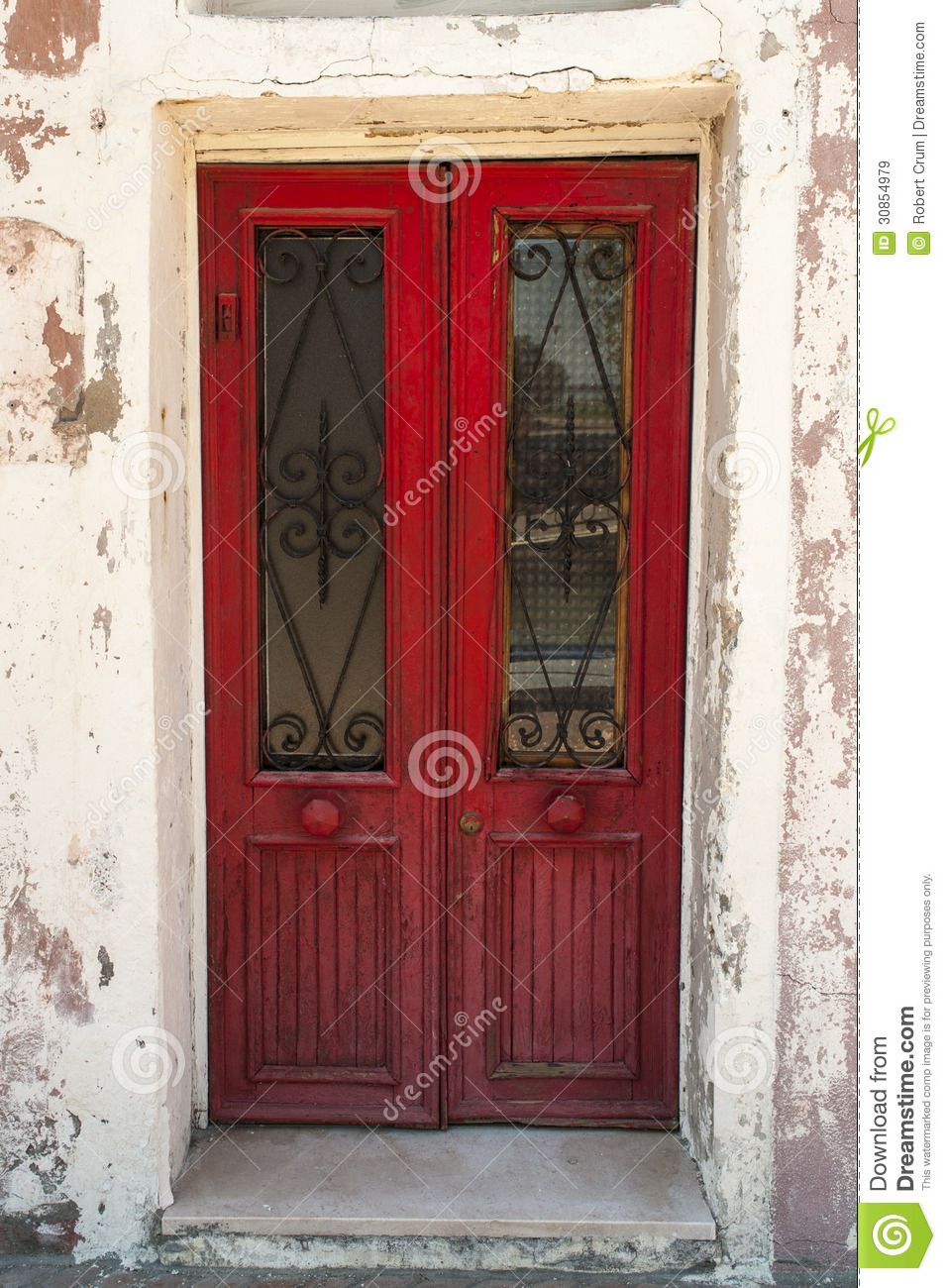 Old Red Wooden Door Stock Image Image Of Colorful