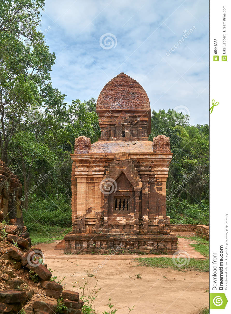 Old religious buildings from the Champa empire - cham culture. In my son, near Hoi an, Vietnam. World heritage site.