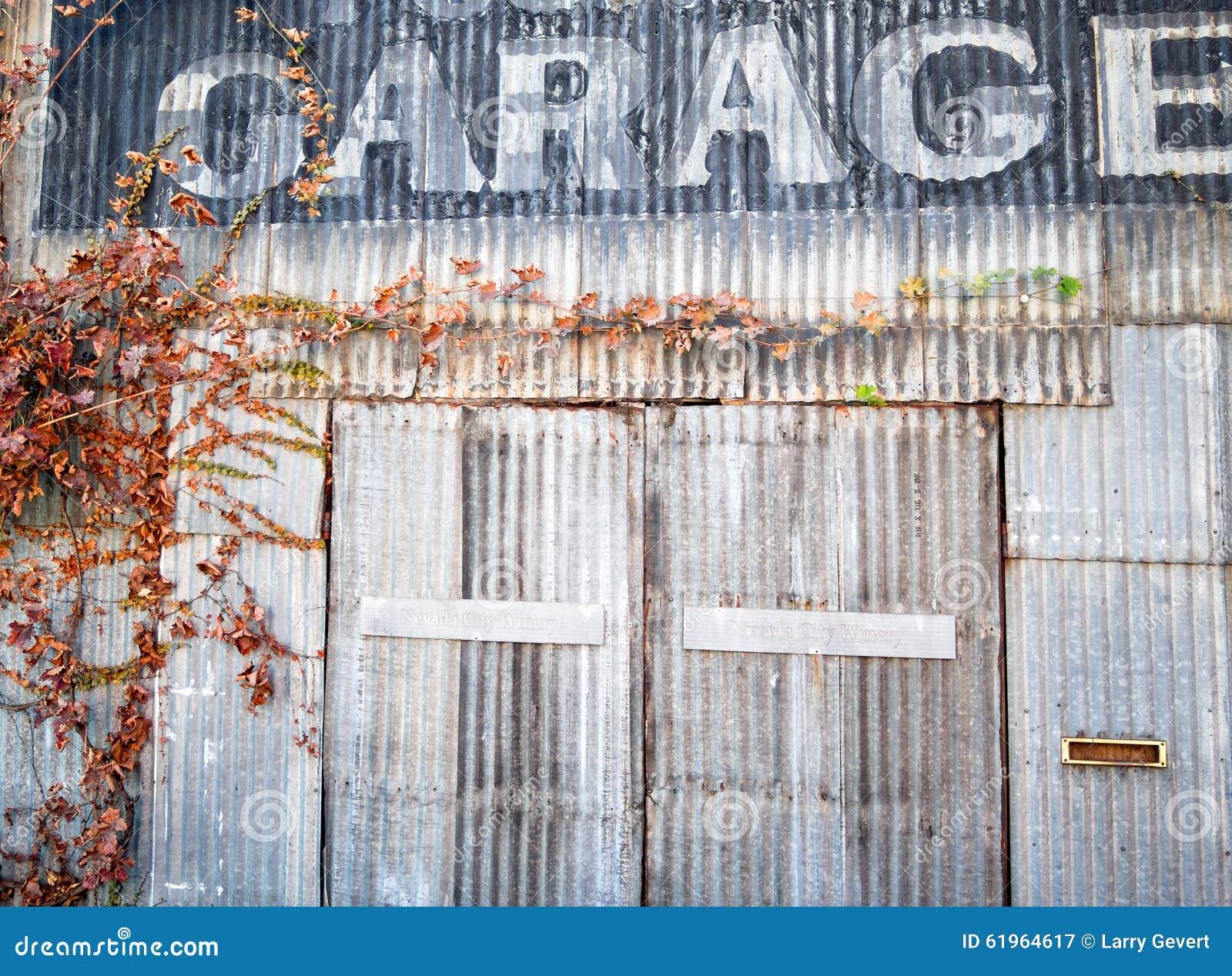 Old Repair Garage Stock Image Image Of Brown Corrugated