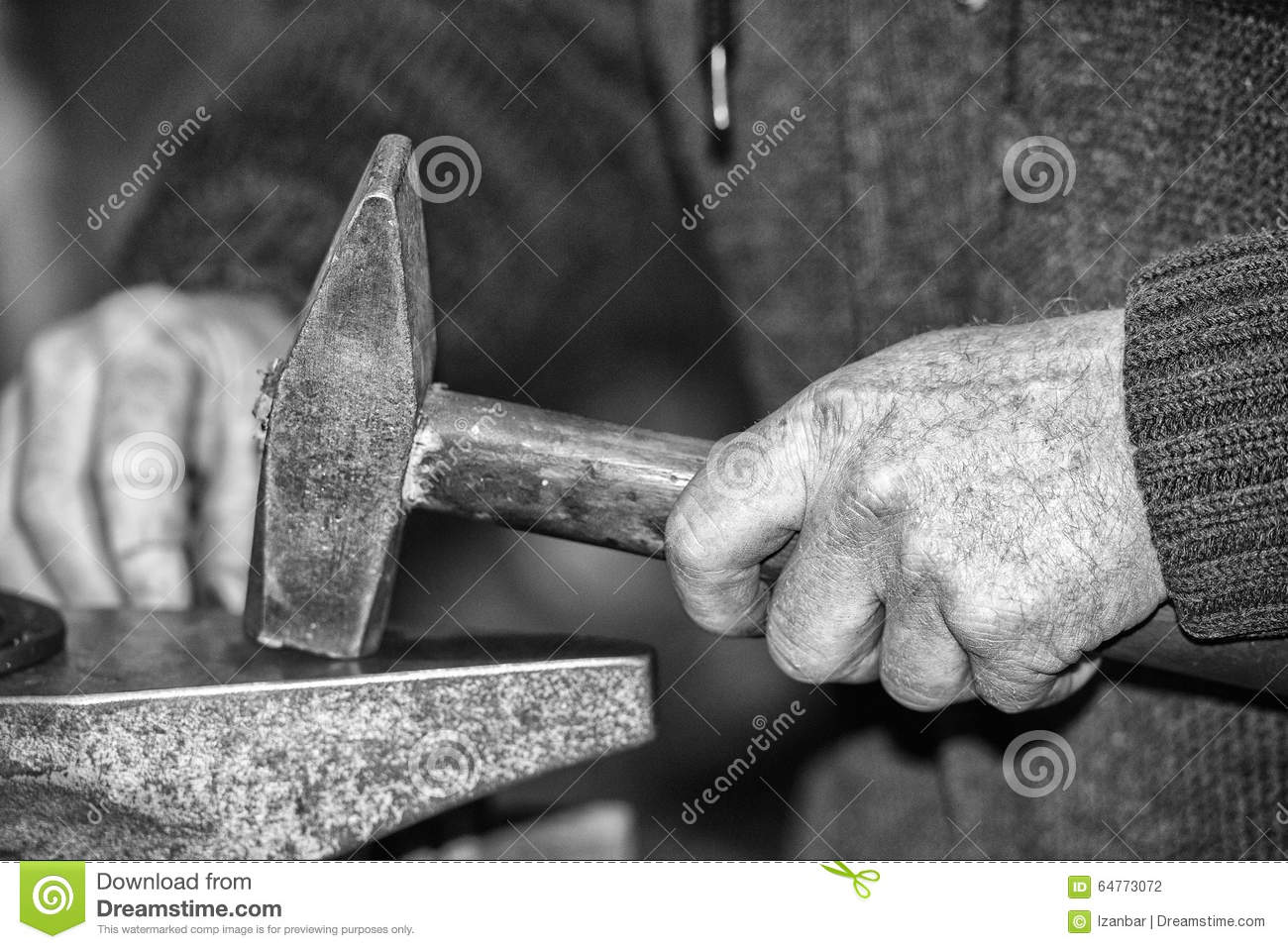 old retired man hands working in b w stock photo image of retired