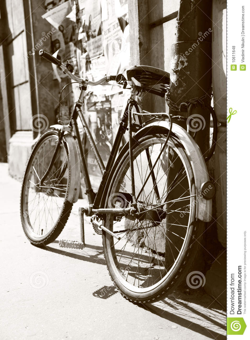 Download Old retro bike stock photo. Image of italy, ride, europe - 10611648