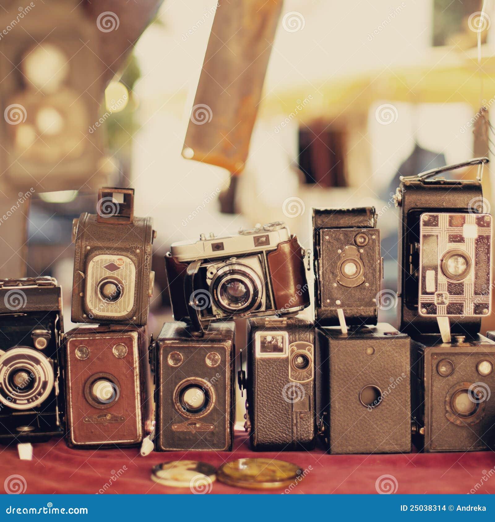 Old retro cameras