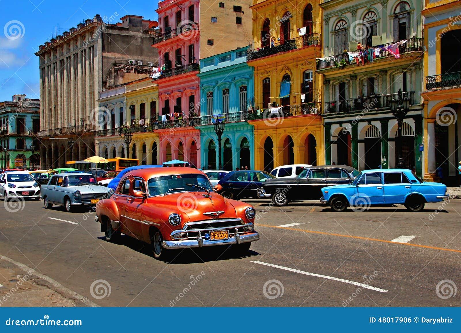 Old retro car in Havana, Cuba