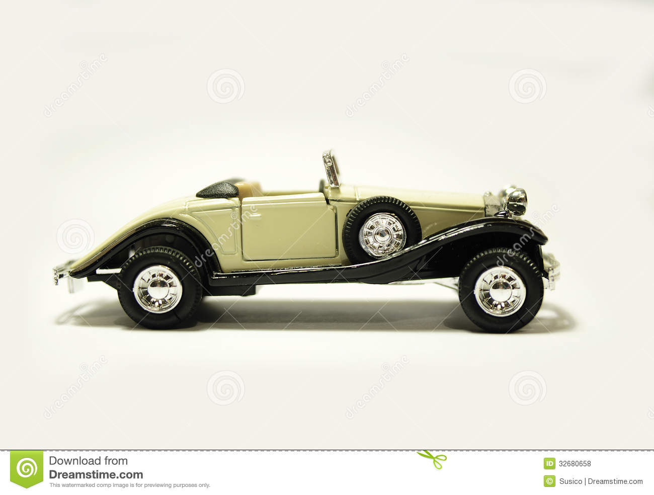 Old retro model car stock photo. Image of fashioned, antique ...