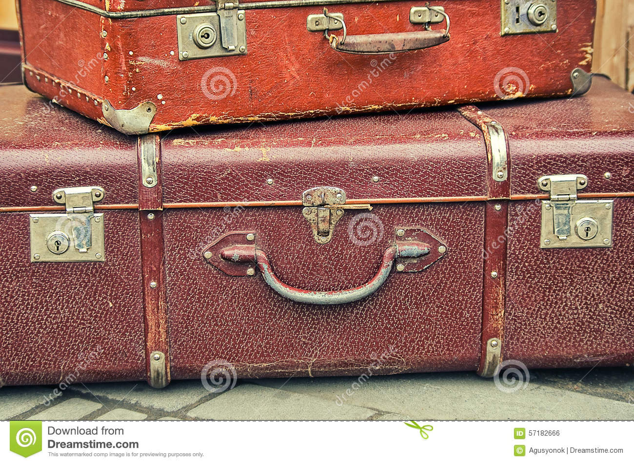 Old retro objects antique a lot of luggage valise for Old objects
