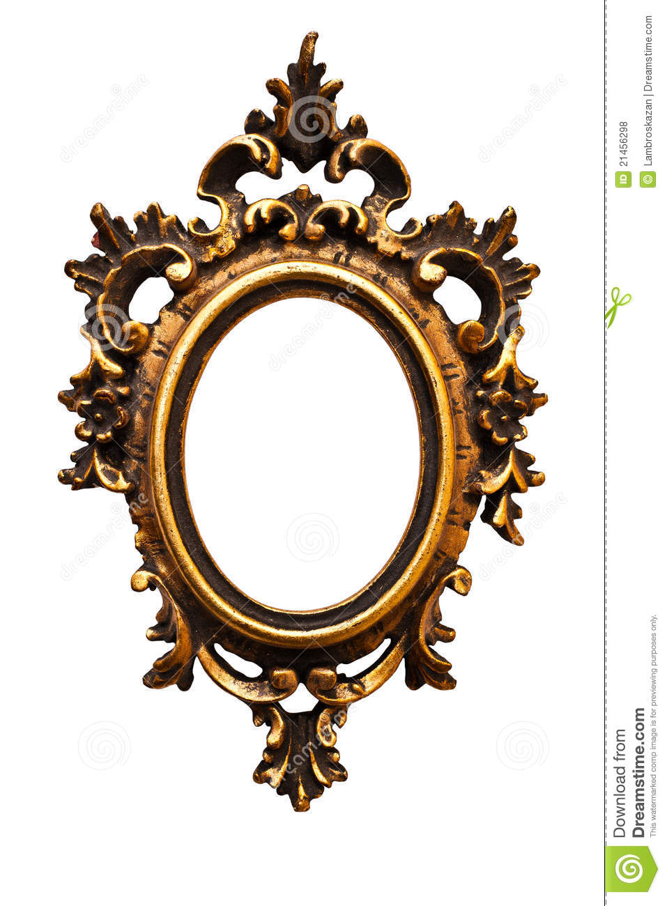 Old Retro Oval Golden Old Frame No 12 Royalty Free Stock