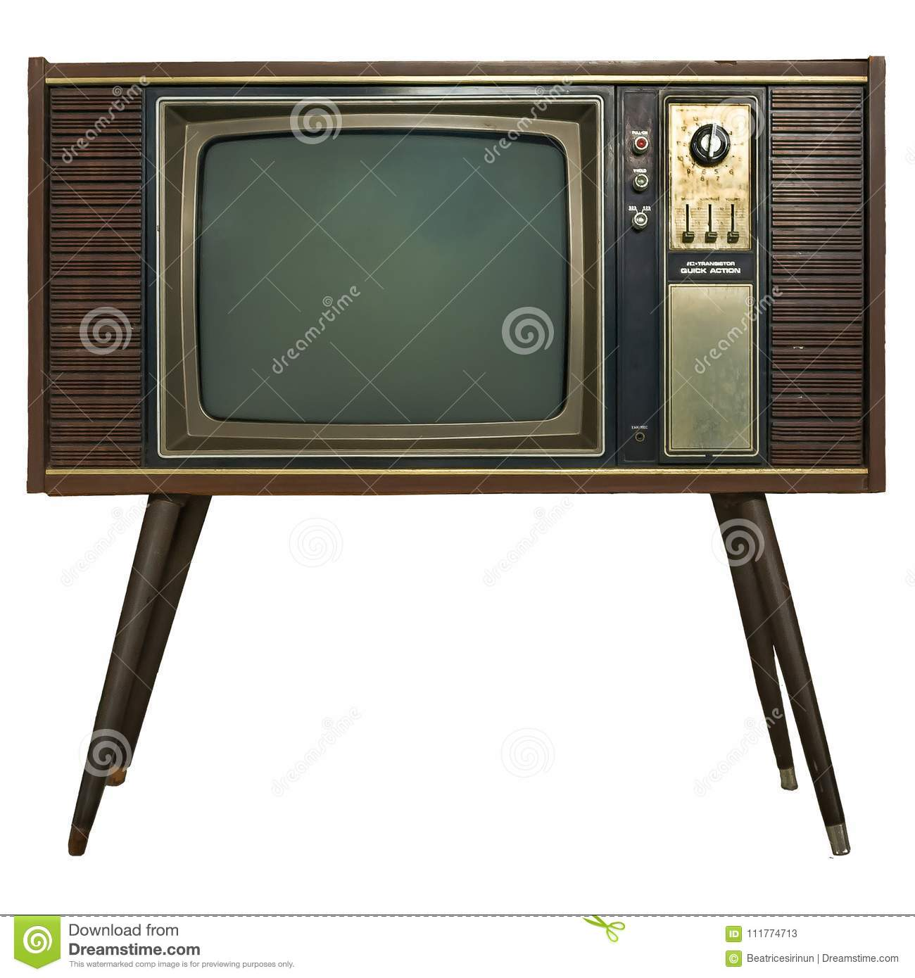 vintage tv in wooden cabinet retro tv in wooden cabinet stock image image of board path. Black Bedroom Furniture Sets. Home Design Ideas