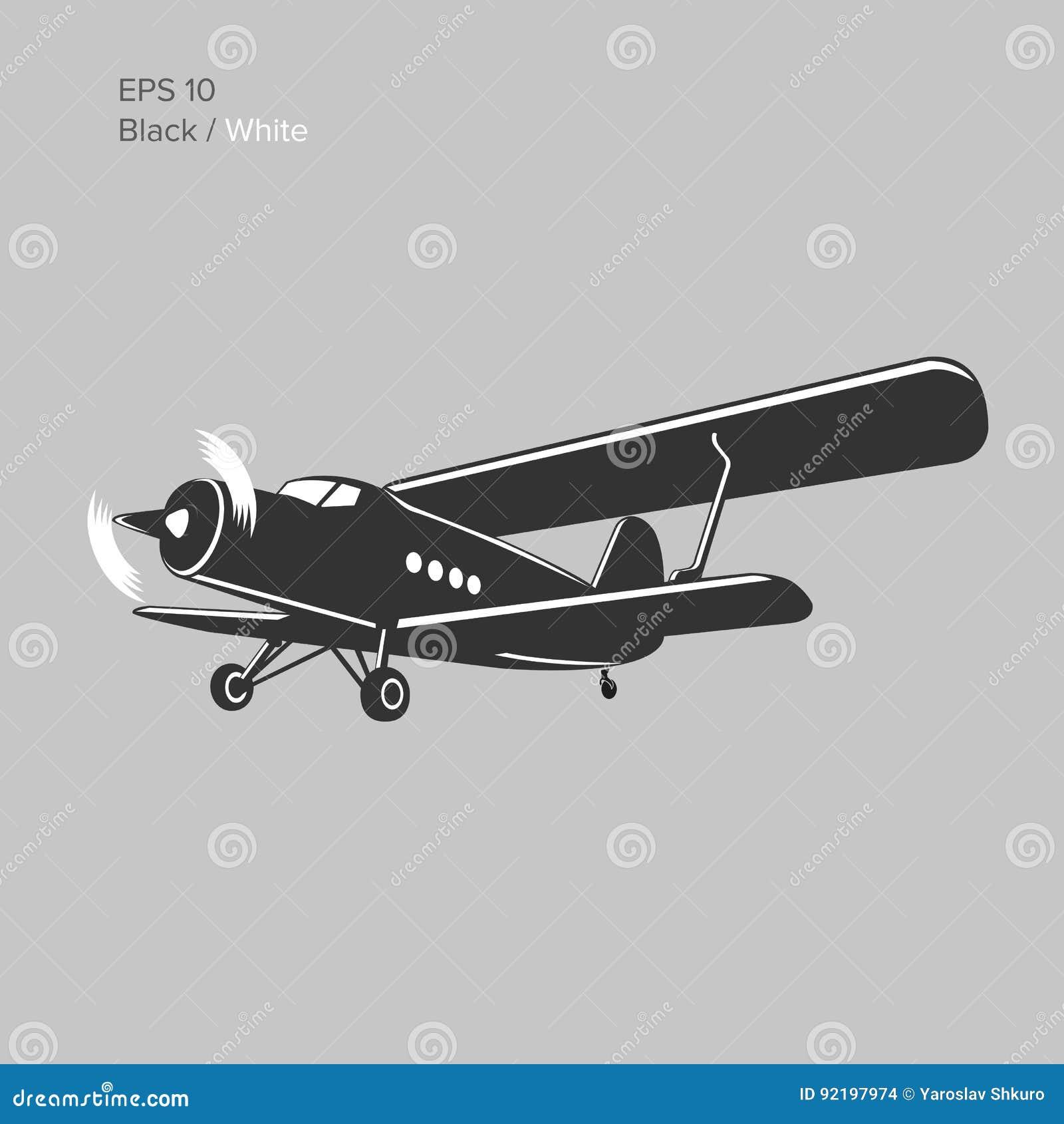 Car With Aeroplane Engine >> Retro Passenger Aircraft. Vector Illustration | CartoonDealer.com #29899430