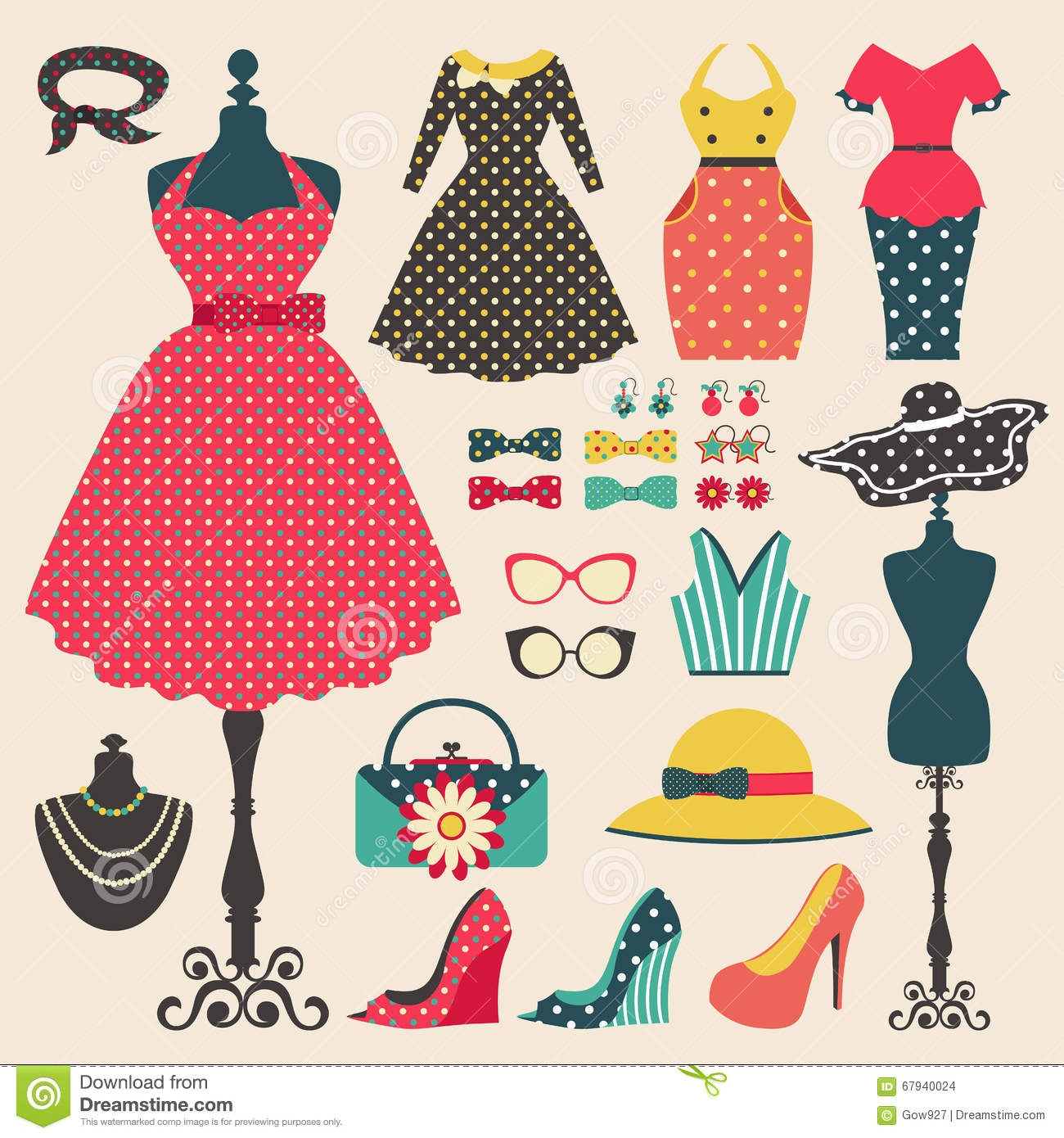 Free Fashion Accessories Clipart