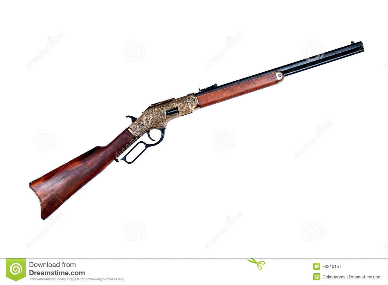 Old Rifle Winchester Royalty Free Stock Photography - Image: 26210157