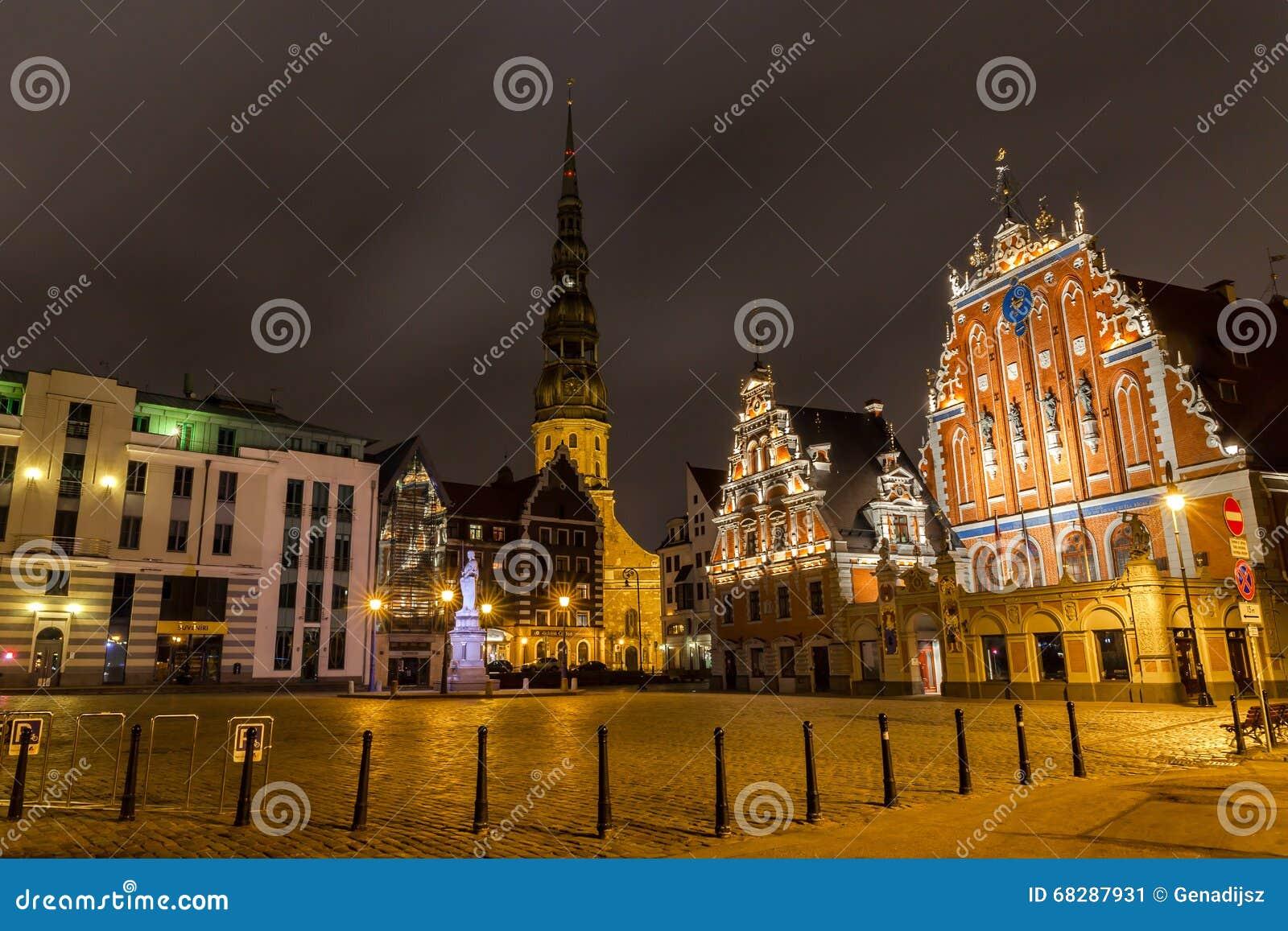 Old Riga at Night