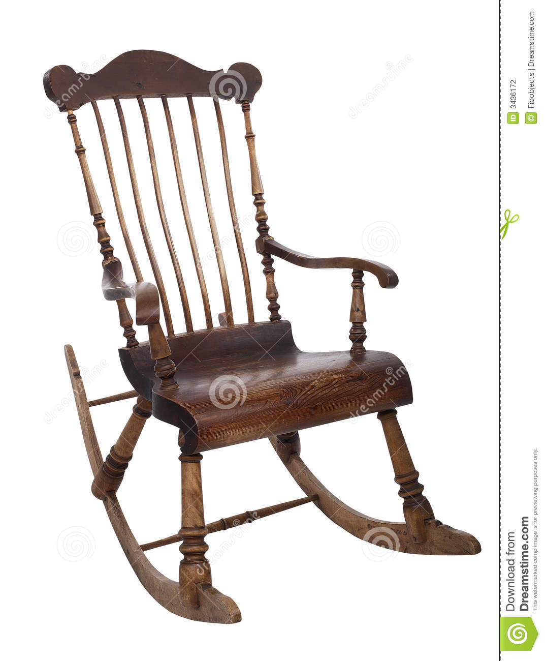 Old Rocking Chair Stock Photography Image 3436172
