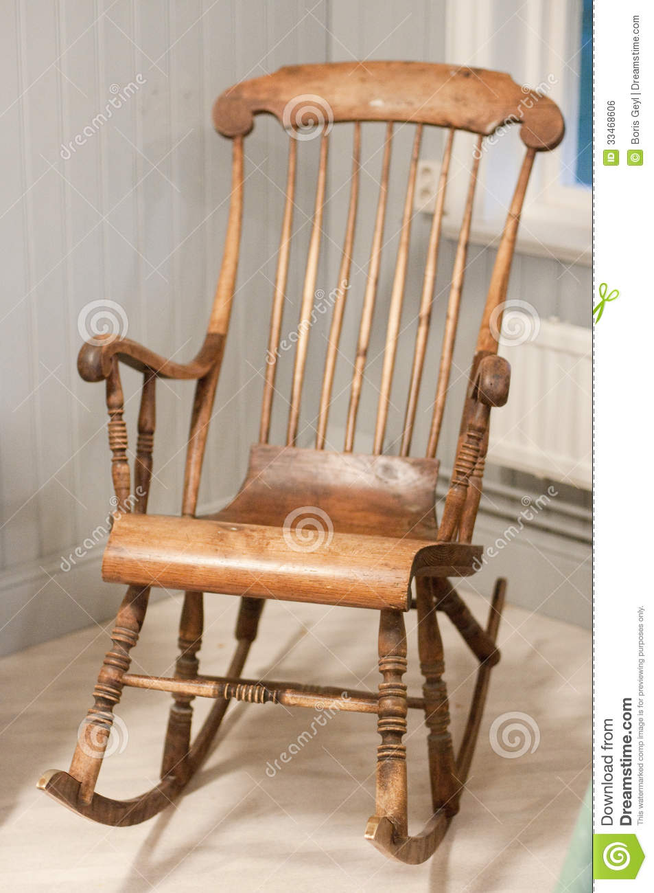 Old Rocking Chair Royalty Free Stock Image - Image: 33468606