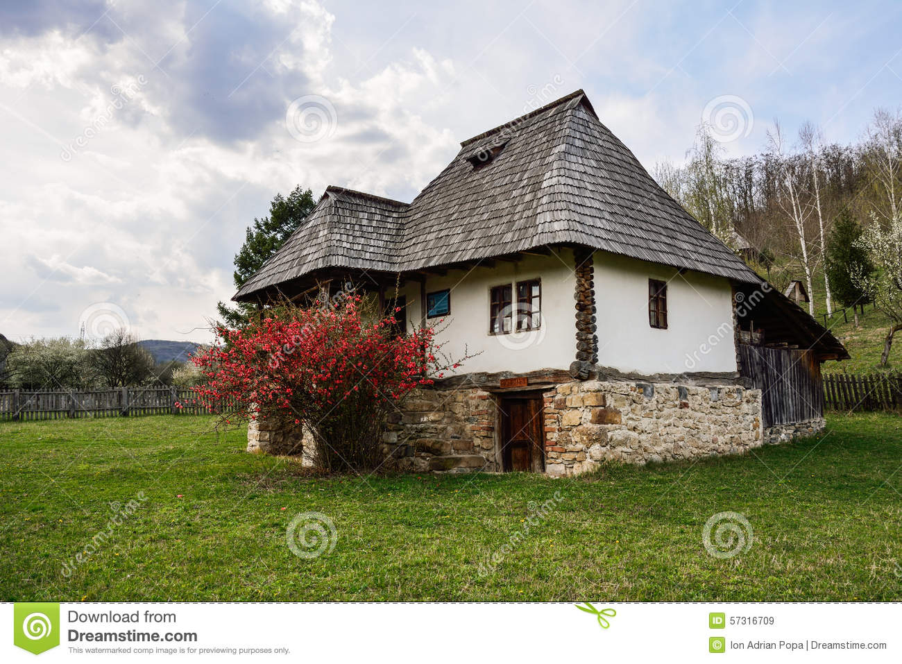 Old romanian peasant house village museum valcea romania stock photo image 57316709 - What houses romanians prefer ...