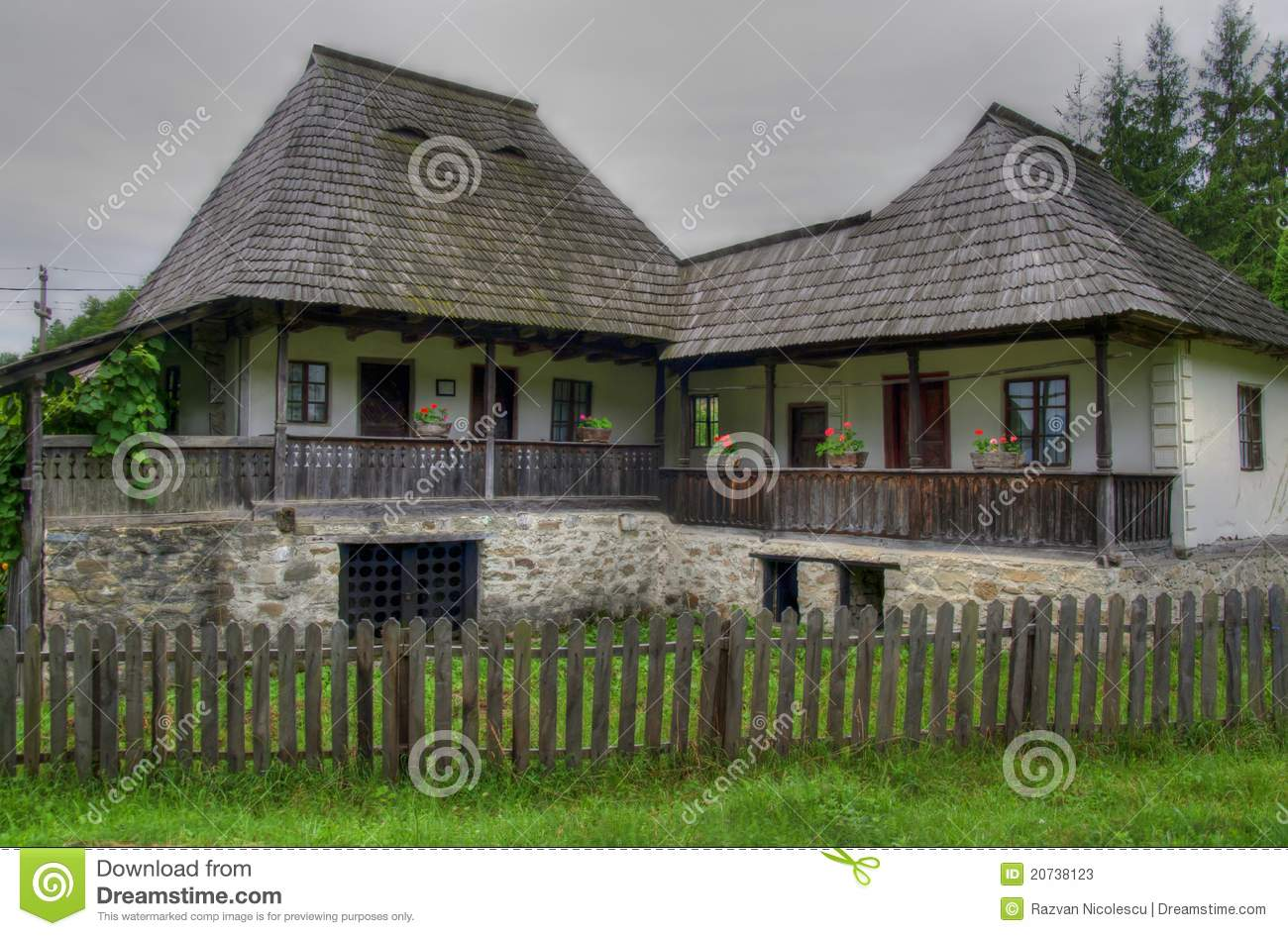 Old romanian traditional joined house stock photos image for Old traditional houses