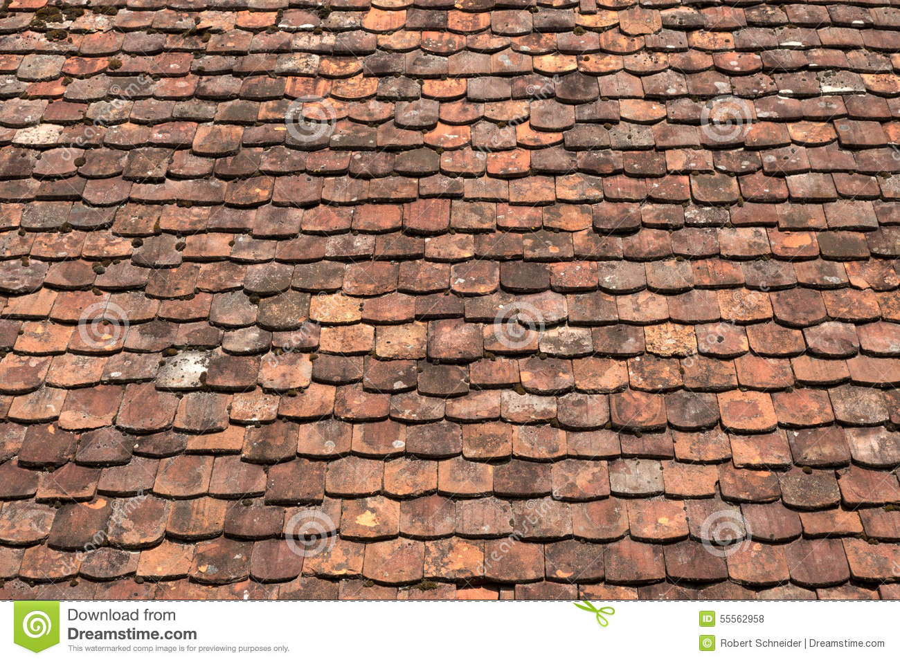 Old Rood Tiles Stock Photo Image Of Clay Ancient Repeat