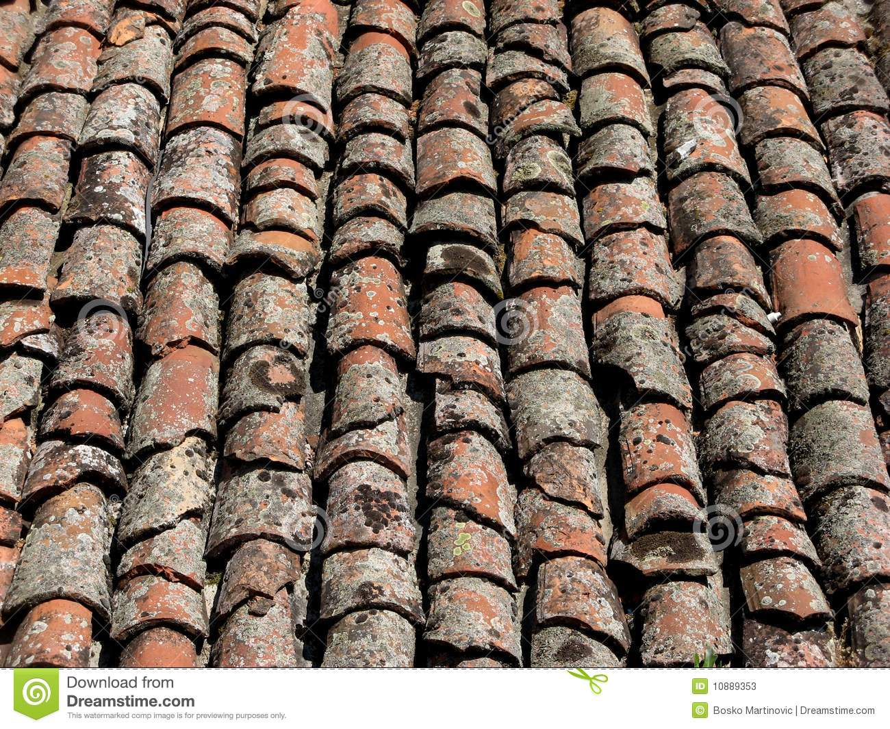 Old Roof Tiles Stock Image Image Of Broken Protection