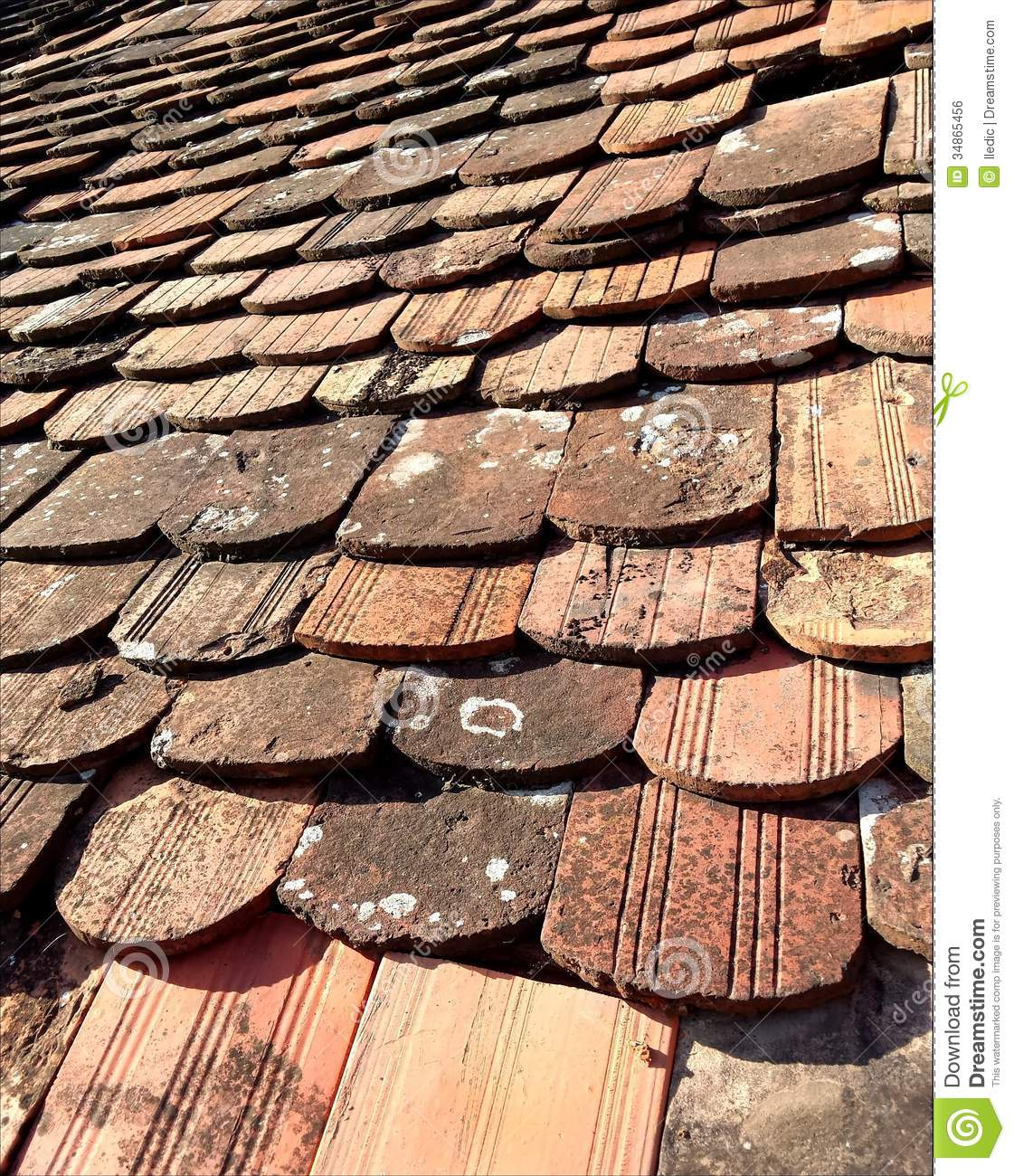 Old roof tiles stock photo image of grunge structure for Different roofs