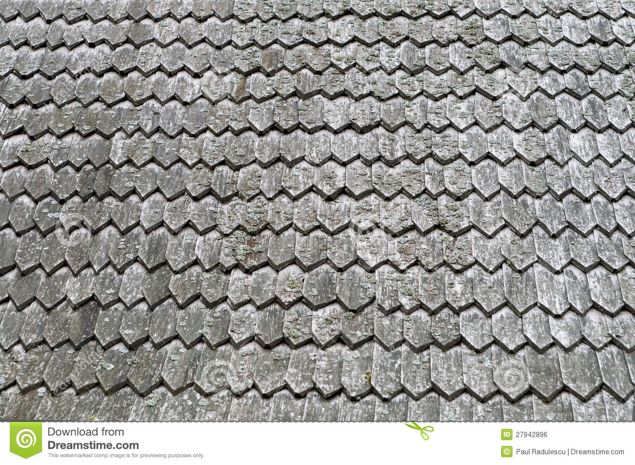 Old Roof Wooden Texture For Background Royalty Free Stock