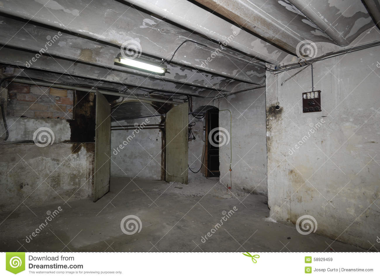 Old Room Of A House Wiring Stock Image Deterioration In