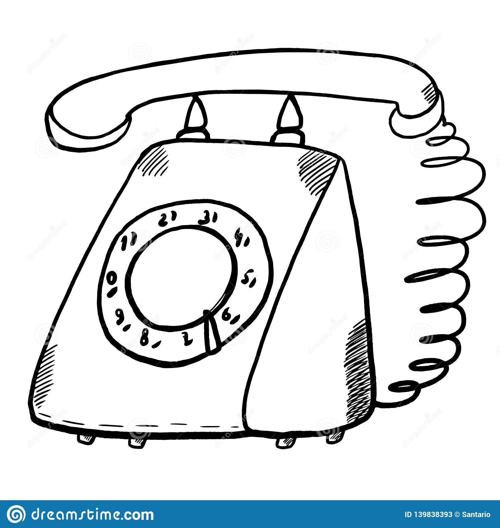 Strange Old Rotary Phone Illustration Stock Vector Illustration Of Object Wiring 101 Capemaxxcnl