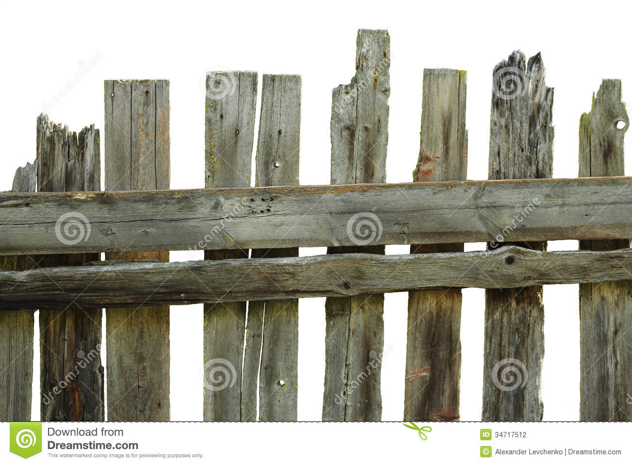 Old Rotten Fence Of Pine Boards Stock Photography Image