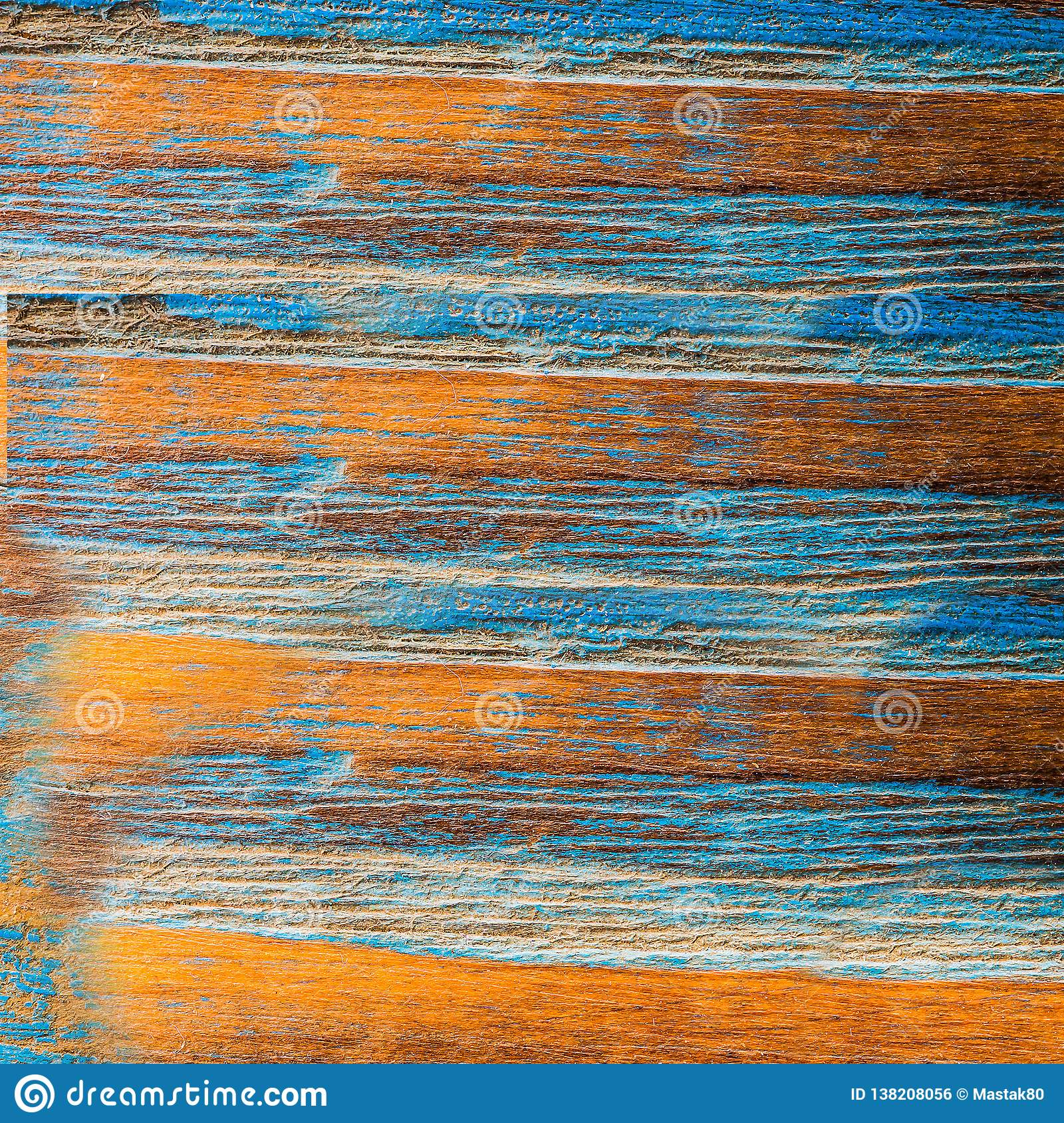 Old rotten yellow blue Board with mold
