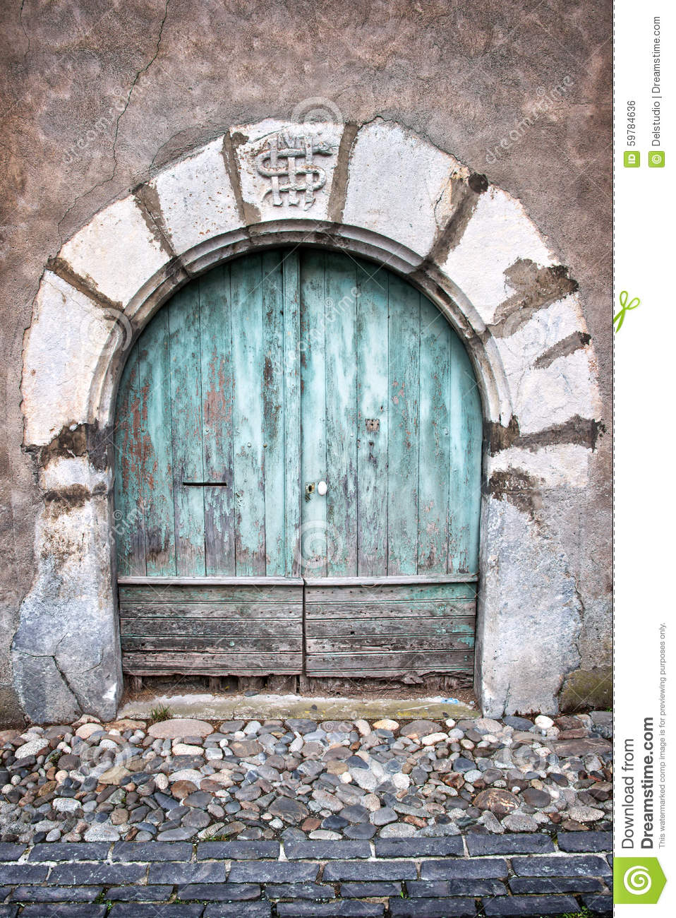 Royalty-Free Stock Photo. Download Old Round Door ... & Old Round Door And Paved Steet In A Village Stock Photo - Image ... pezcame.com