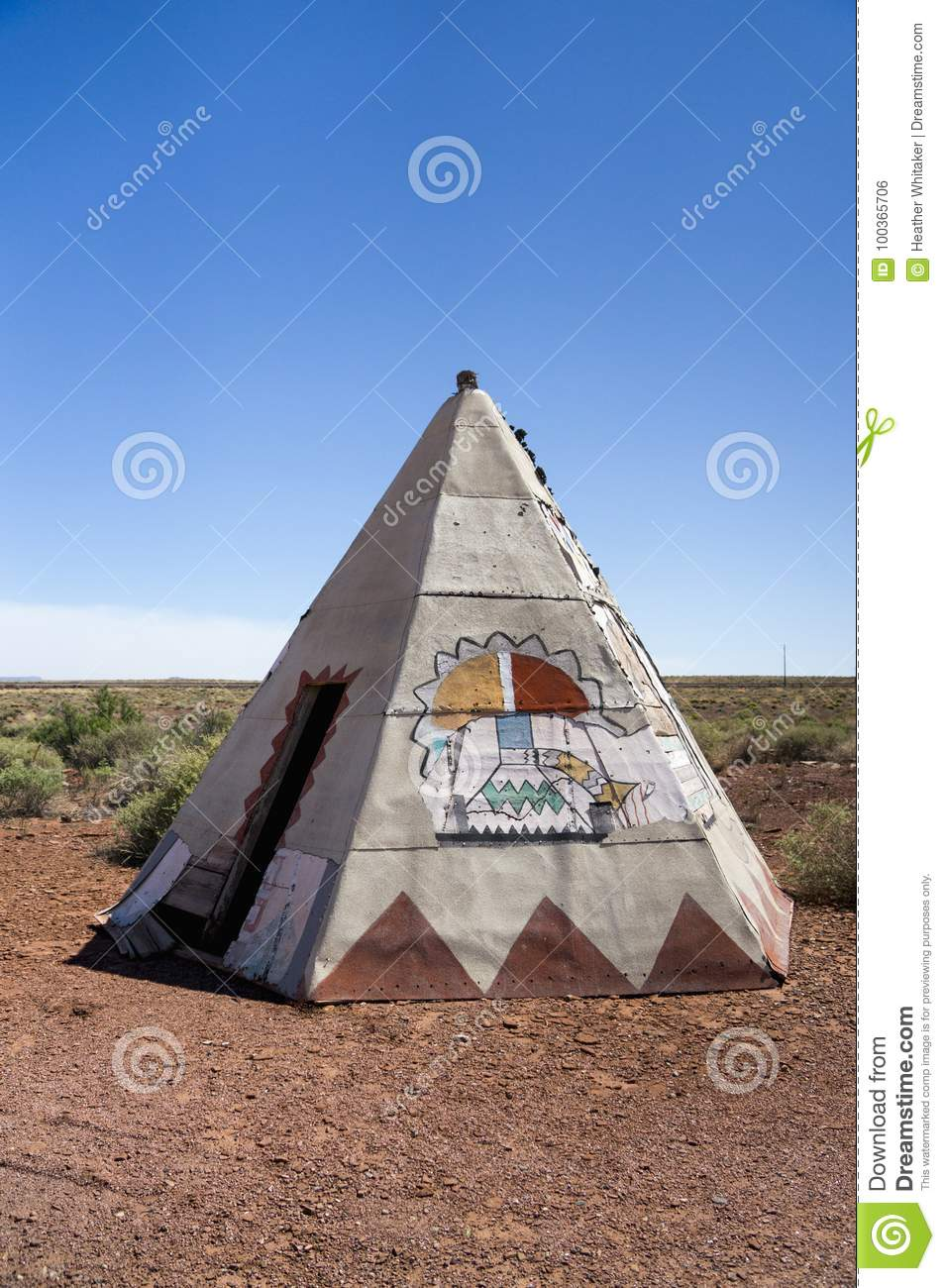 Old Route 66 TeePee Portrait Closeup