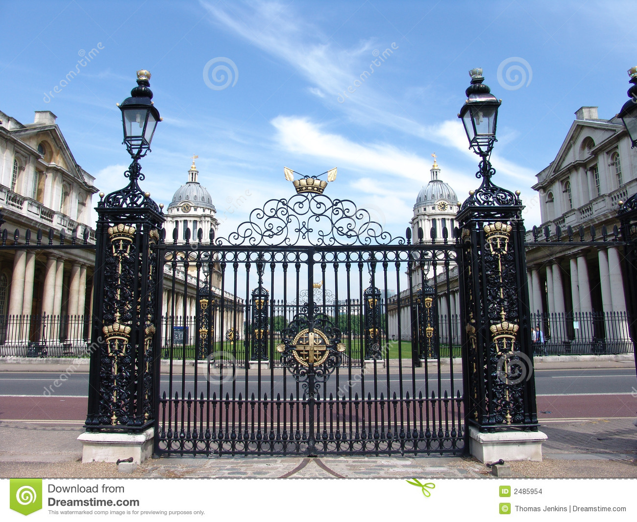 Old Royal Navel College Gates Stock Photo Image Of