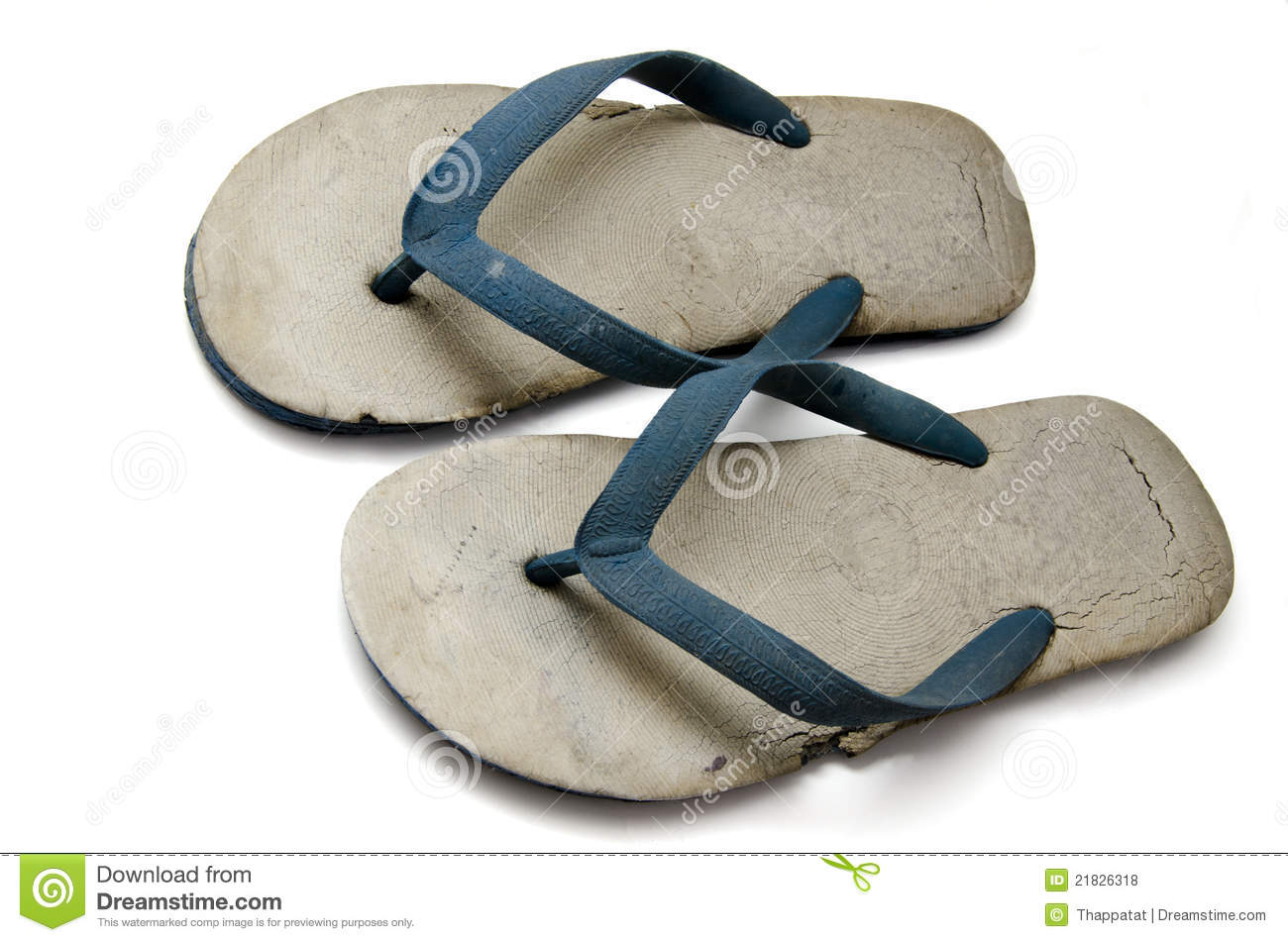 old rubber slippers royalty free stock photos image