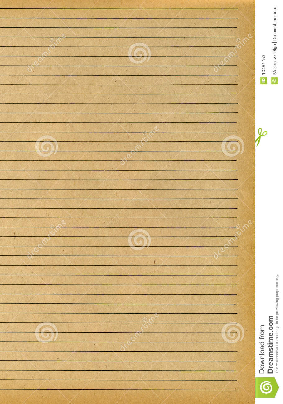 Old Burnt Lined Paper Old ruled paper texture