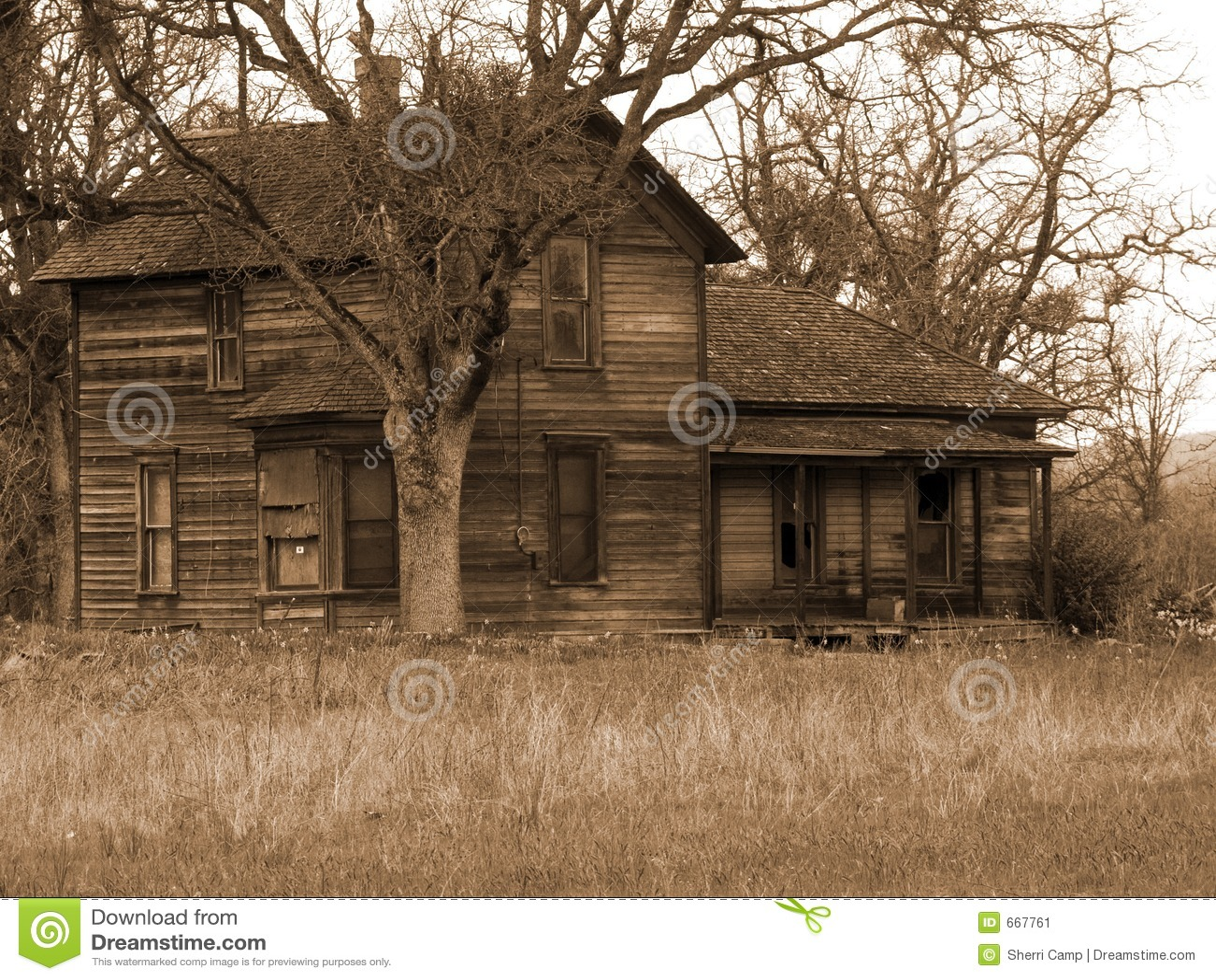 Old Run Down Farm House