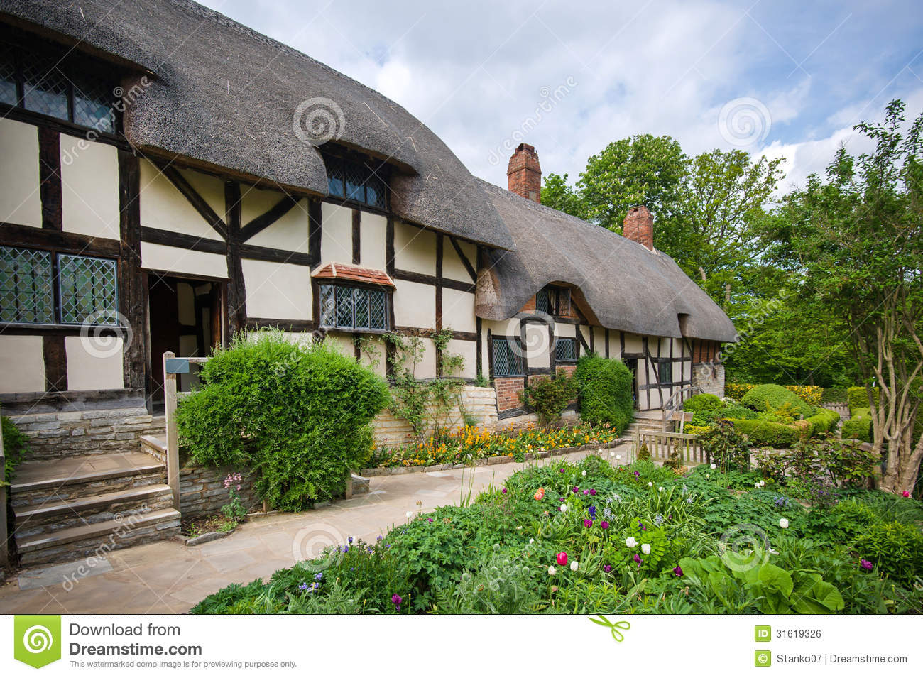 Old Rural English Cottage Stock Photo Image Of