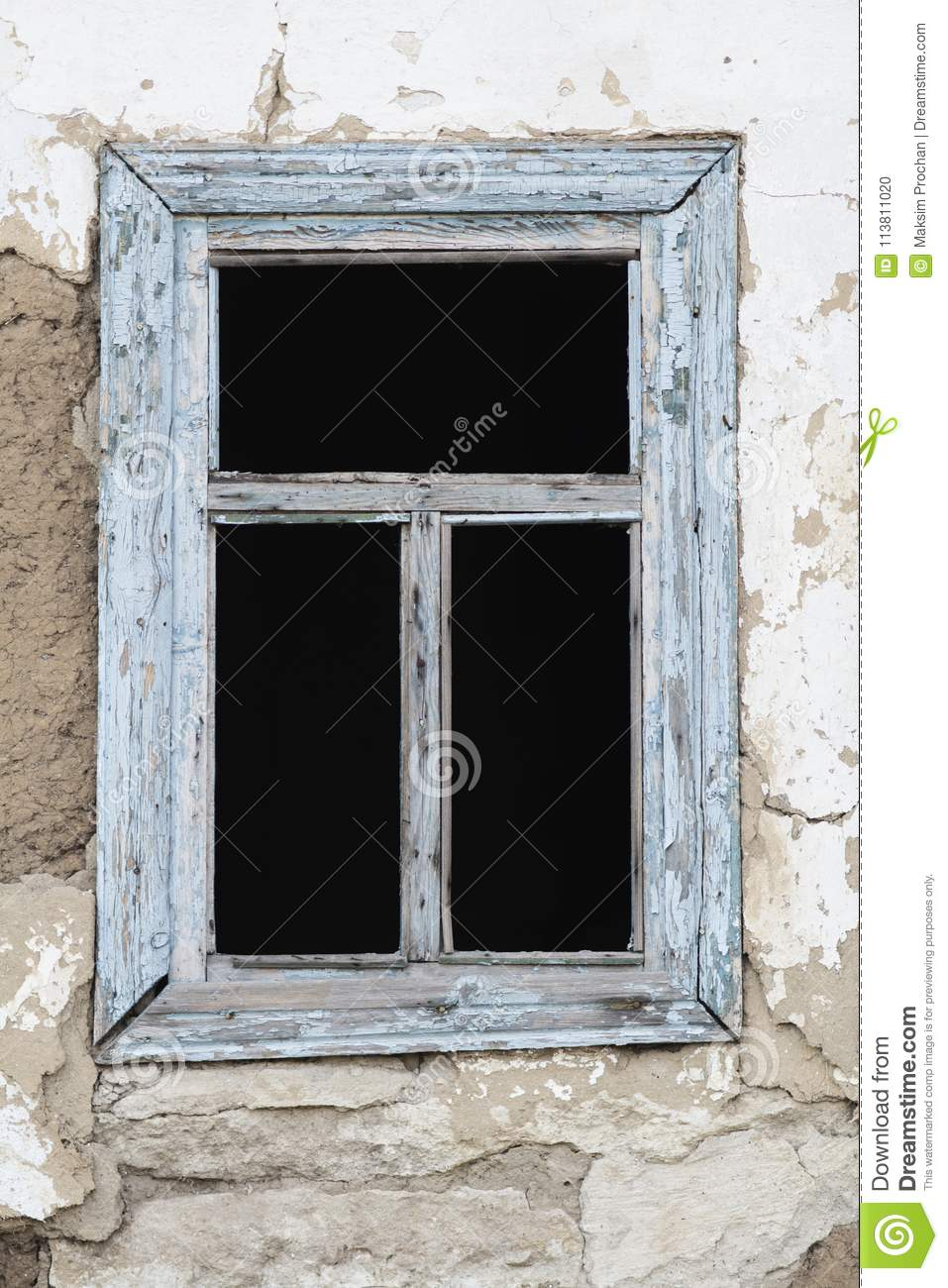 Admirable Old Rural House Window With Broken Glass Abandoned House Download Free Architecture Designs Itiscsunscenecom