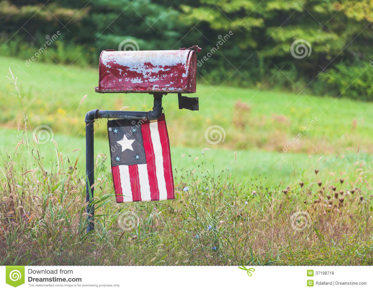 Old rural mailbox with antique flag stock photo image for What to do with old mailbox