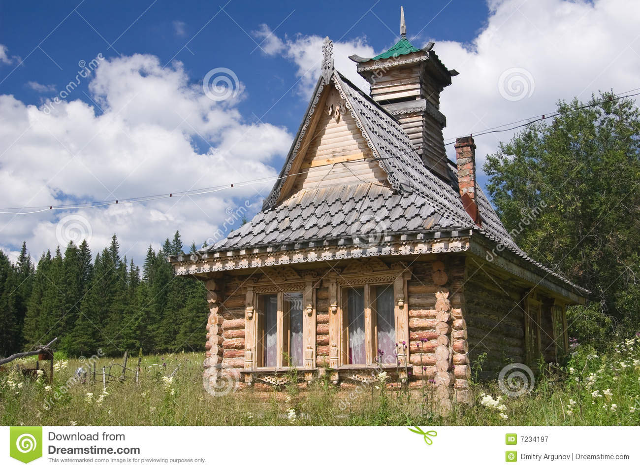 Old Russian House Royalty Free Stock Photography - Image