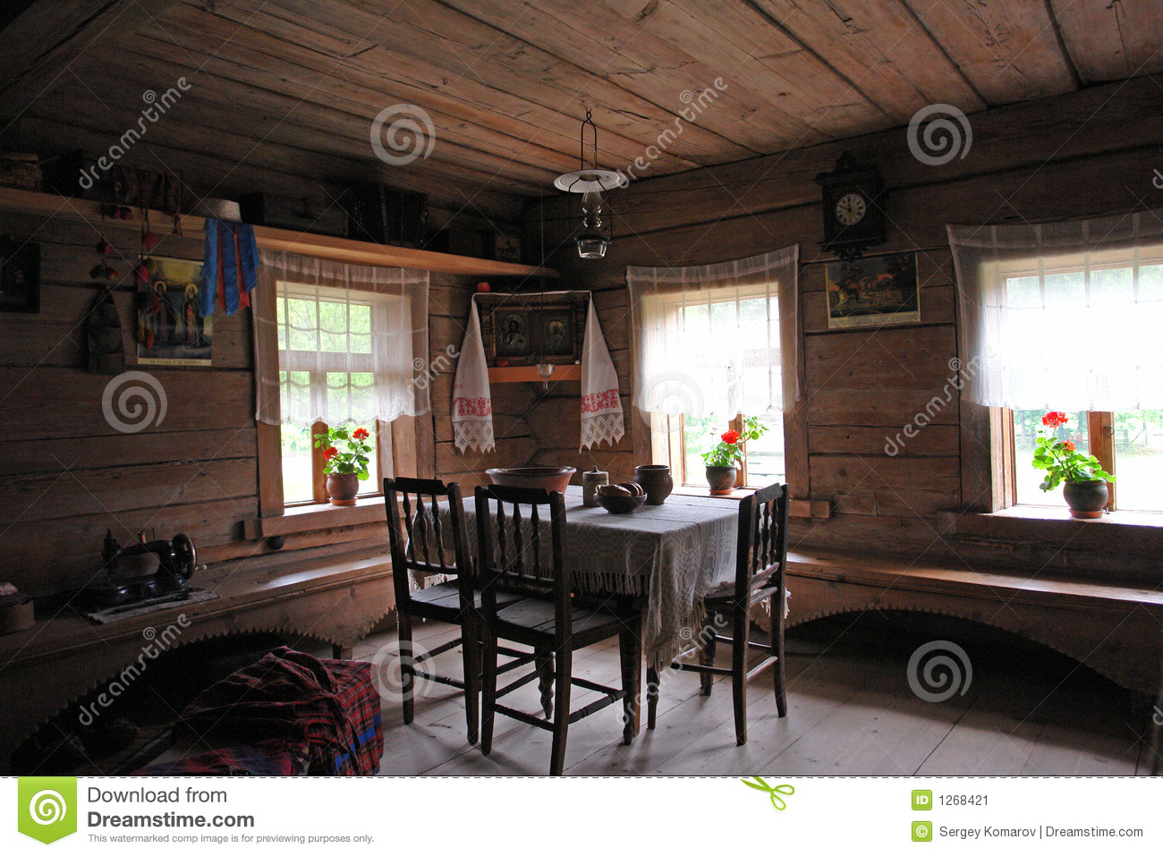 Old Russian Household Interior Stock Image Image 1268421