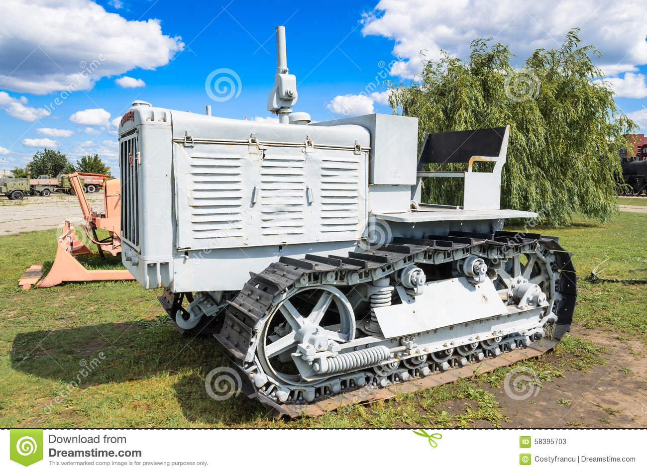 Old Russian Tractor Stalinets 65 Diesel Powered Vehicle C