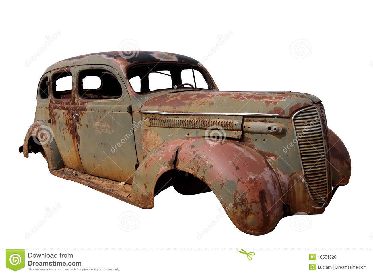 Old Rusted Car stock photo. Image of isolated, fashioned - 16551326