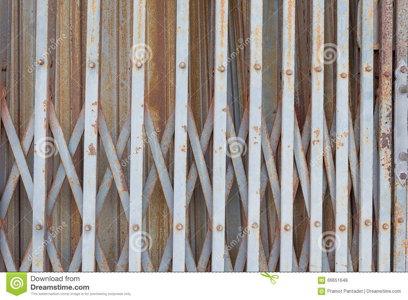 Old rusted iron gates