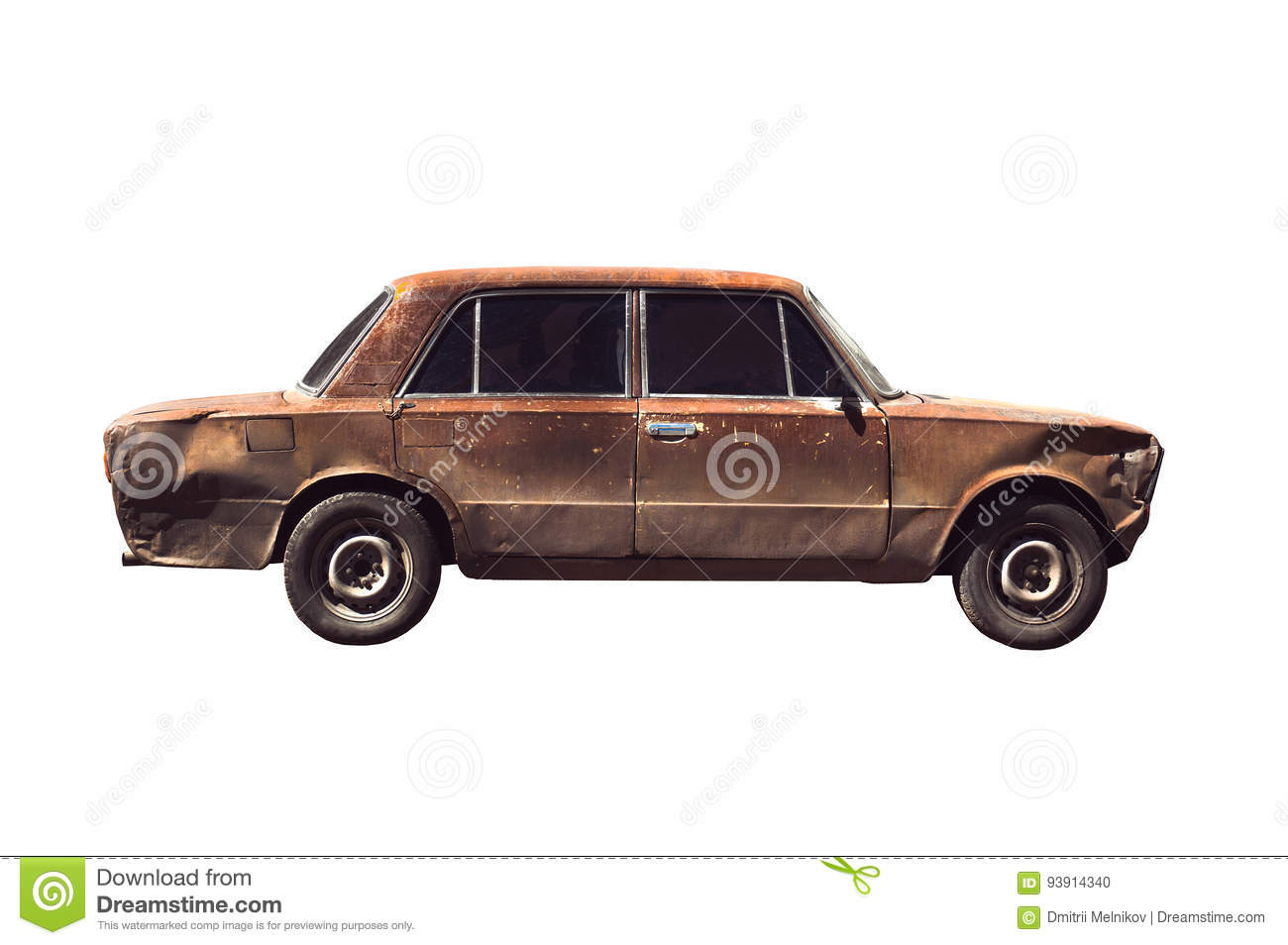 Download Old rusted torched car stock photo. Image of auto, junkyard - 93914340