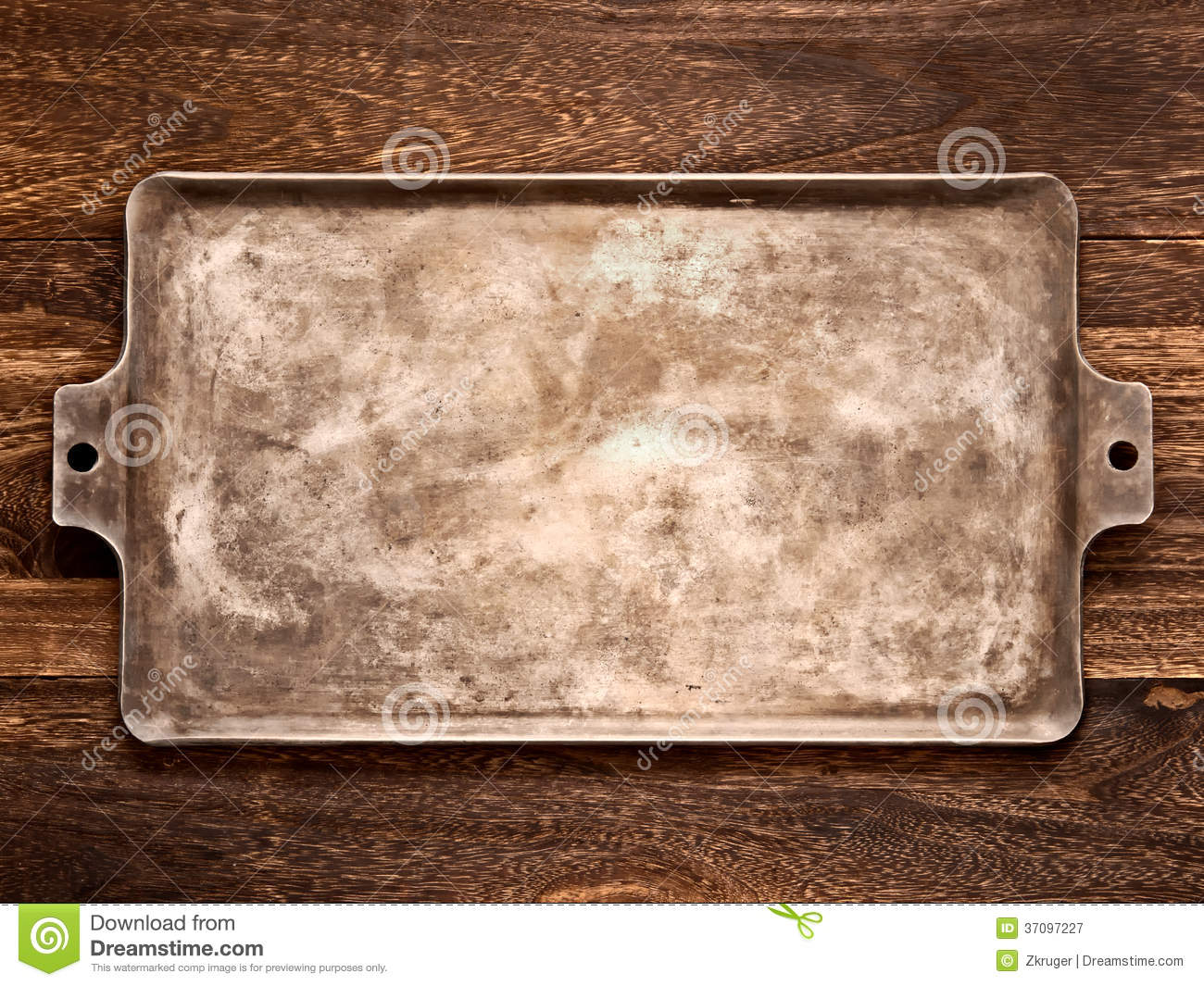 Old Rustic Baking Sheet Stock Image Image Of Bakeware