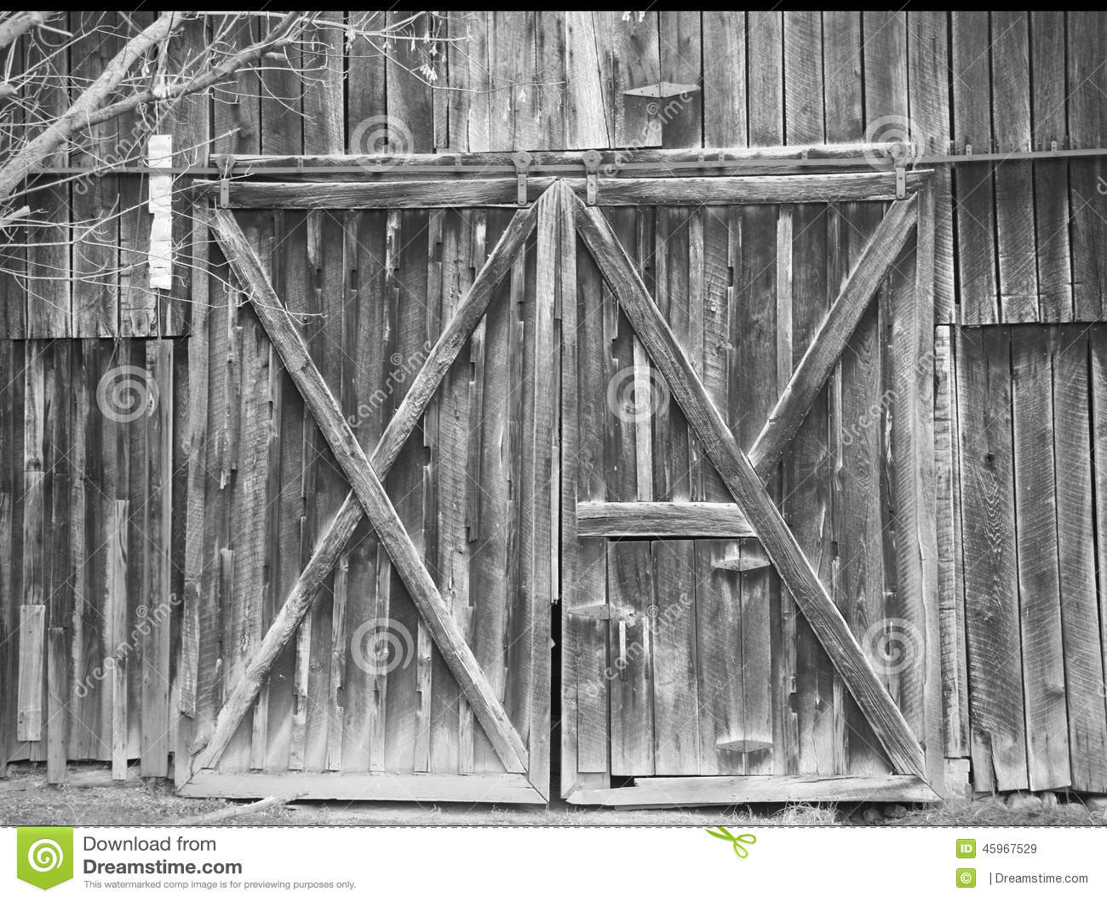 Old Rustic Barn Doors Stock Image Image Of Barn Rustic 45967529
