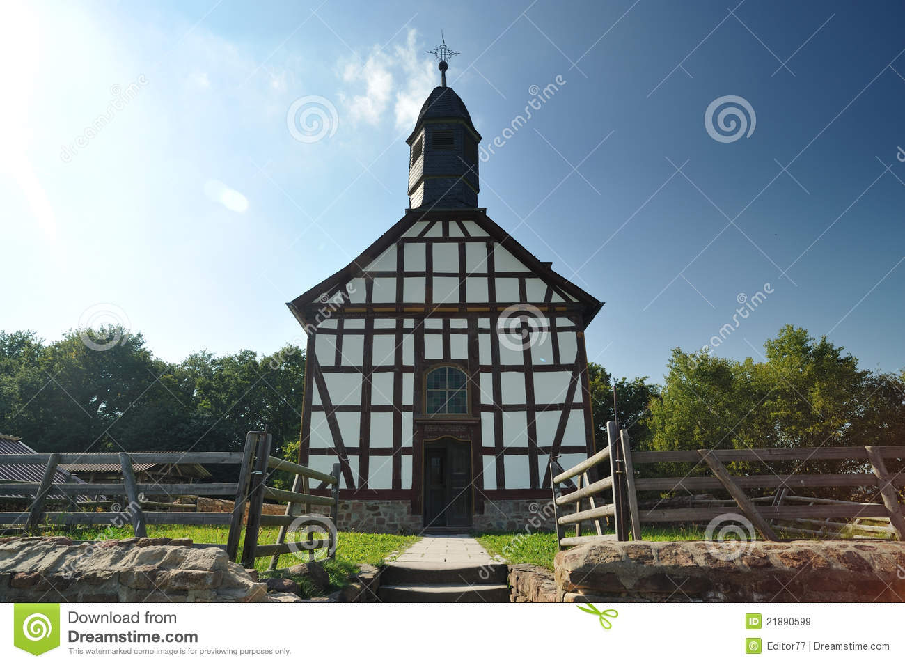 Old Rustic Catholic Wooden Church Royalty Free Stock