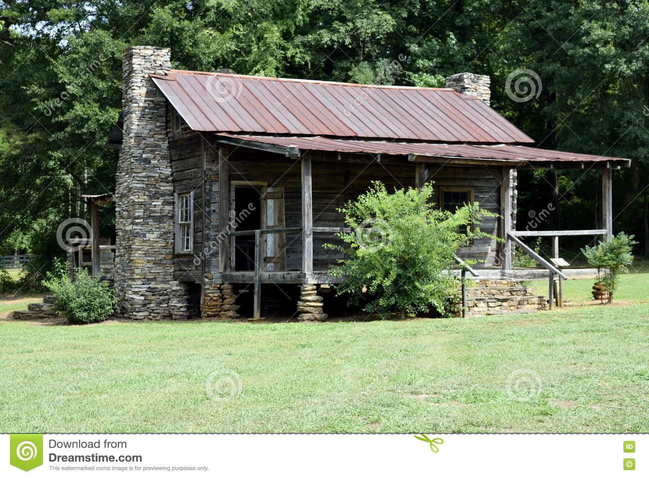 old rustic log cabin stock photo image of retro veranda 74685424. Black Bedroom Furniture Sets. Home Design Ideas