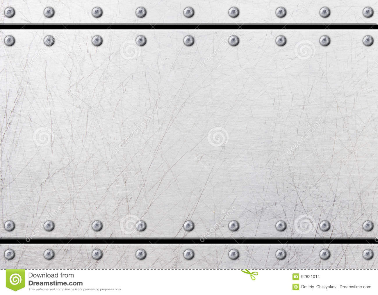 Old Rustic Metal Plates With Rivets Seamless Background Or Texture 3d Il Ration