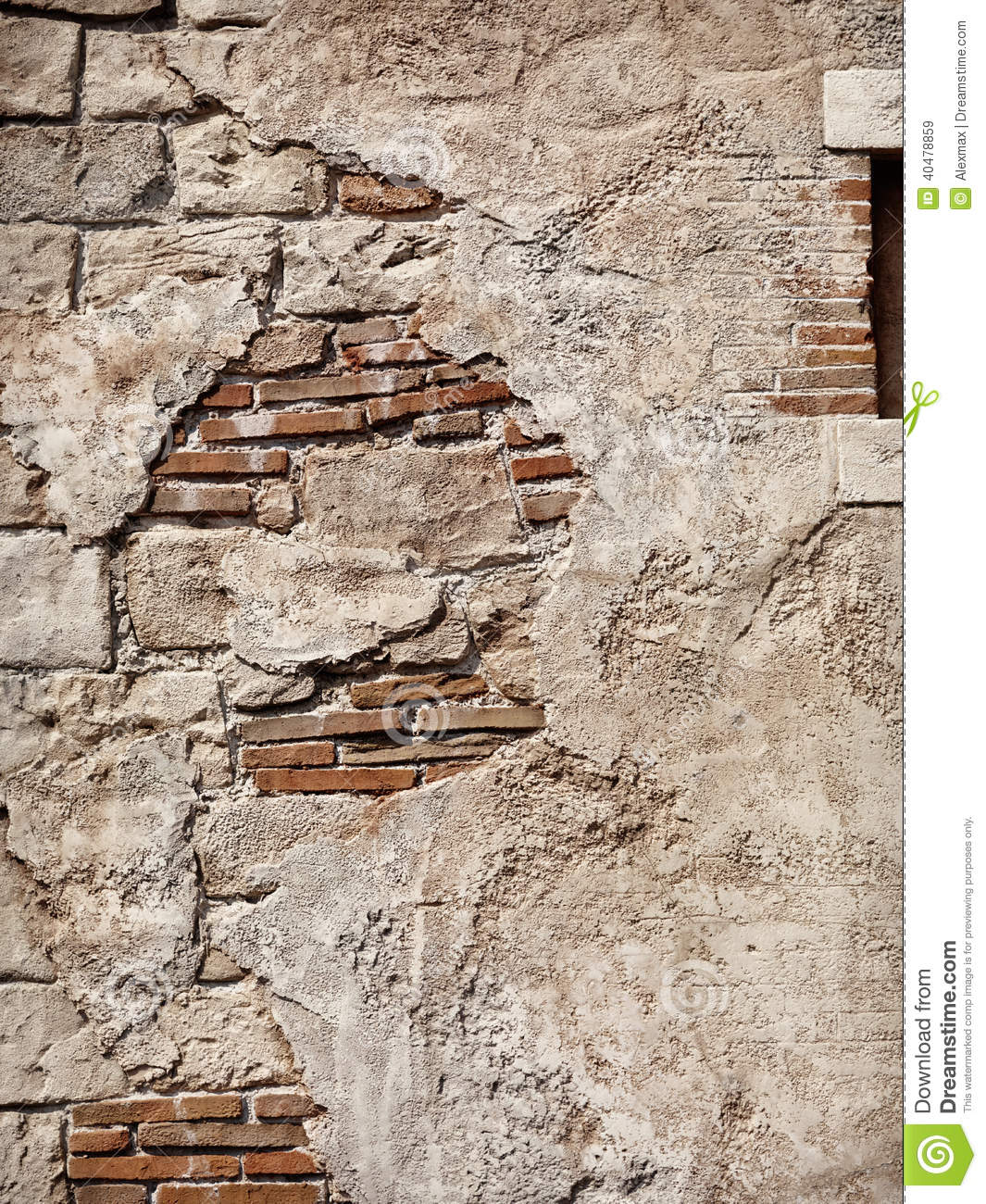 Rustic Stone Walls : Old rustic stone and brick wall texture stock image